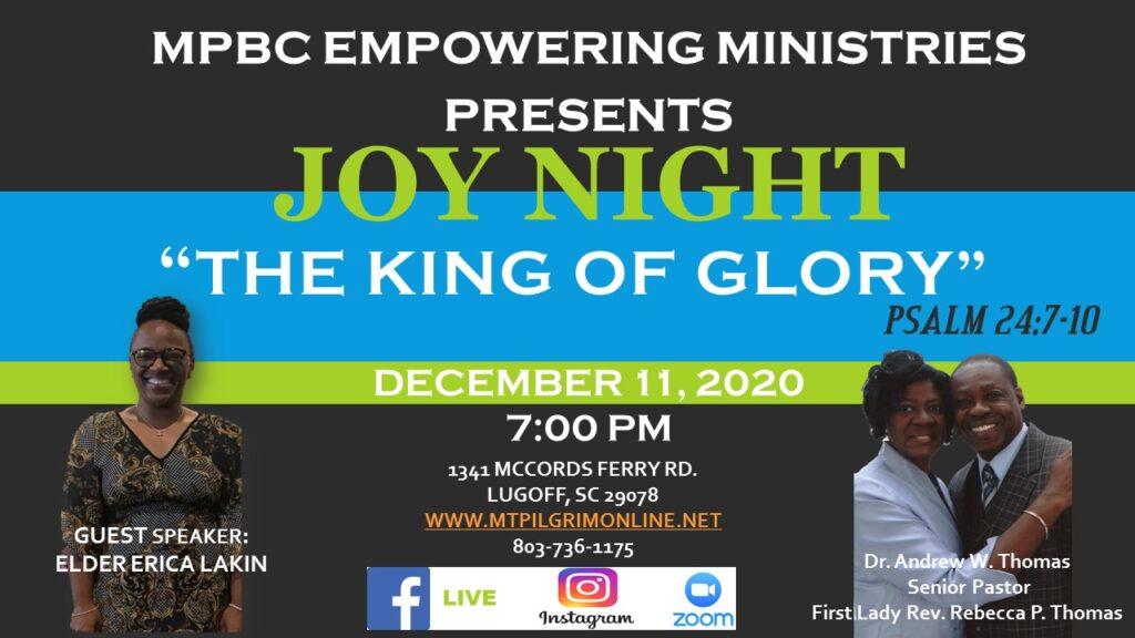 "Joy Night 2020                    ""THE KING OF GLORY"""